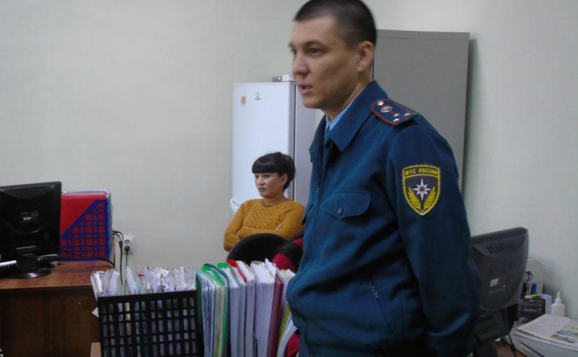 Тренинг по пожарной безопасности прошел в Наримановском районе