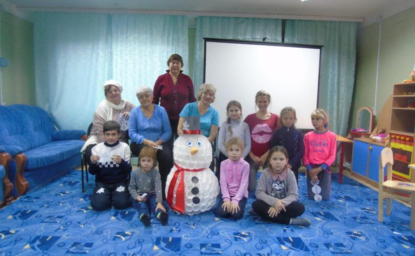 В Наримановском районе провели мастер-класс «Задорный снеговик»